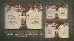 tree wedding invitations read more oak tree and string of lights wedding invitations