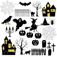 halloween silhouettes template haunted house silhouette clipart 68