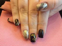 eye candy nails u0026 training acrylic nails with black and gold
