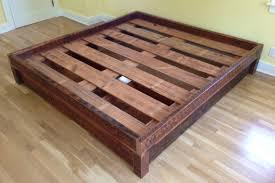 Reclaimed Wood Platform Bed Arbor Exchange Reclaimed Wood Furniture Platform Bed W Two