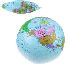 Earth Globe Map World by 36cm Inflatable Earth World Globe Map Beach Ball Educational