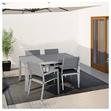 Crate And Barrel Patio Furniture Covers - falster table and 4 armchairs outdoor black brown ikea