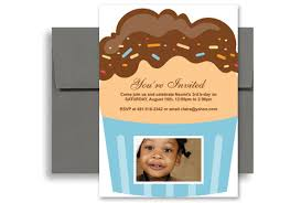 3 year old cupcakes personalized birthday invitation 5x7 in