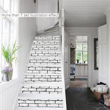 fashionable home decor diy steps sticker brick wall style