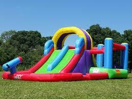 bebop kamikaze bouncy castle and double slide amazon co uk toys