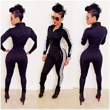 one jumpsuits 2018 casual one jumpsuits sleeve bodycon front