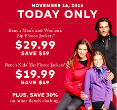 Bench Clothing Canada Hudson U0027s Bay Canada Pre Black Friday Sale Today Only Bench