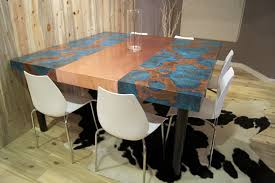 Copper Table Tops Copper Table - Copper kitchen table