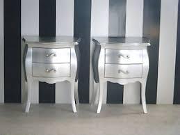 comodini foglia argento coppia comodini bombati barocco foglia argento ebay