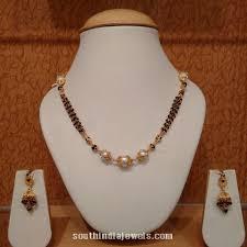 gold short chain necklace images Gold short black bead necklace gold shorts bead necklaces and beads jpg