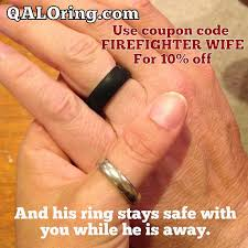 Firefighter Wedding Rings by Firefighter