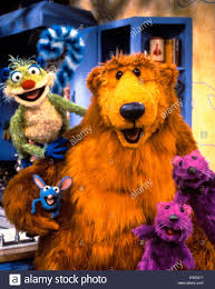 bear in the big blue house stock photo royalty free image