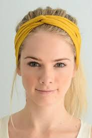 yellow headband hey twist front headband from dakota by hey