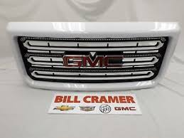 2015 2018 gmc hd gm oem colored summit white grille