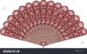 decorative fan fan style ornate stock vector 569232211