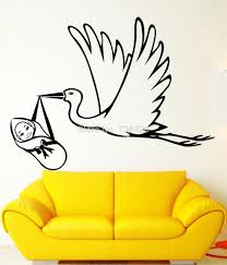 popular vinyl family decals buy cheap vinyl family decals lots new 2015 hospital wall sticker stork baby birth maternity hospital family vinyl decal home baby room