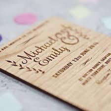floral wooden wedding invitation by sophia victoria joy