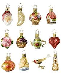 inge glas bridal collection 12 miniature ornament gift set