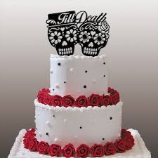 day of the dead wedding cake topper day of the dead dia de los muertos till wedding cake