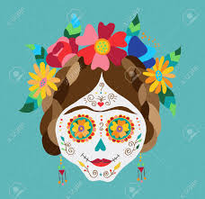flower decoration for hair traditional mexican catrina skull with paint decoration and