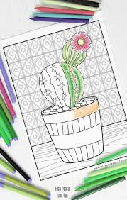 easy peasy coloring page cactus coloring page easy peasy and fun