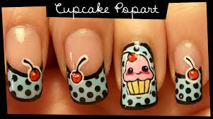 how to paint cupcake popart nail art manicure at home step by step