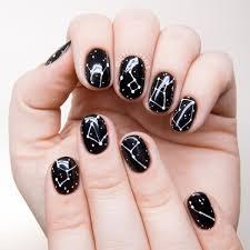 simple constellation nail art chalkboard nails nail art blog