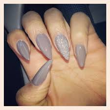 awesome simple stiletto nails with a sparkle nails pinterest