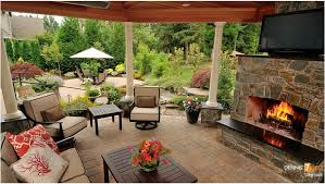 Outdoor Spaces Design - beautiful backyard outdoor living space in using outdoor furniture