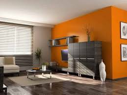 orange wall combined with cream house paint color combinations