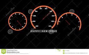 abstract car clocks happy new year 2013 vector stock image image