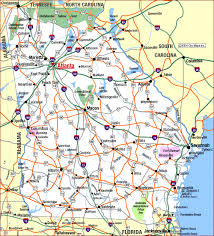 Georgia travel info images Highway map of georgia gif