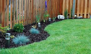 back yard landscaping ideas along a fence fencing without foils