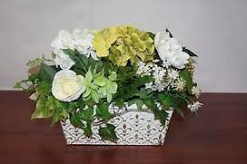 french country style flowers home decor silk flowers in pot ebay