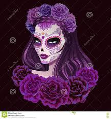 beautiful sugar skull illustration day of dead illustration