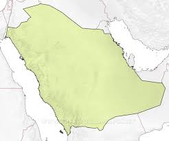 Blank Map Asia by Saudi Arabia Maps