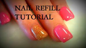 acrylic nails refill tutorials youtube