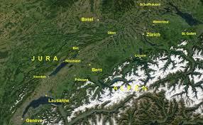 Map Of Switzerland And France by Swiss Plateau Wikipedia
