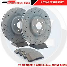 mercedes c class brake discs for mercedes c class w203 s203 front cross drilled brake discs