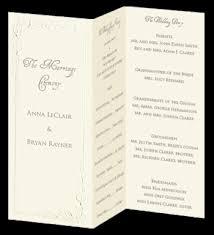 tri fold wedding program trifold wedding programs calla invitation program trifold