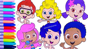 nickelodeon bubble guppies speed coloring activity page fun for