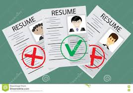 Resume Vector Approved Candidate Resume Stock Vector Image 75464759