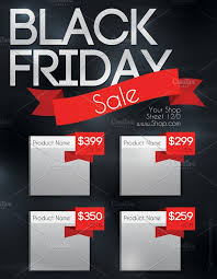 black friday advertising ideas black friday sale flyer flyer templates creative market