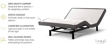 Headboard For Adjustable Bed The Lineal Our Adjustable Mattress Loom And Leaf Sleep Blog