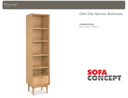 Bookcase Narrow by Stockholm Narrow Bookcase Natural Sofa Concept