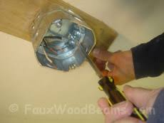 ceiling fan junction box mounting chandeliers or ceiling fan from ceiling beams