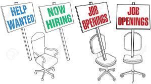 bureau des ressources humaines d embauche signe vide icônes de chaise de bureau pour des