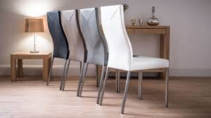 Lydia Black Leather Chrome Chairs Dining Chairs Superb Grey Leather Dining Chairs Canada Furniture