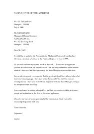 Sample Cover Letter For Assistant Manager by Resume Cover Letter Administrative Assistant Samples We Have So