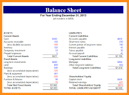 13 excel balance sheet template abstract sample